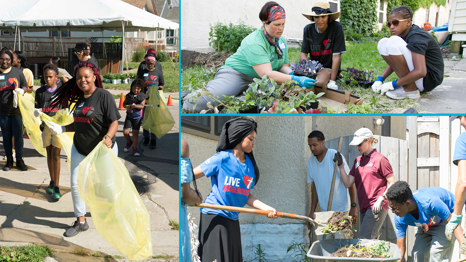 Neighborhood Revitalization event photo collage