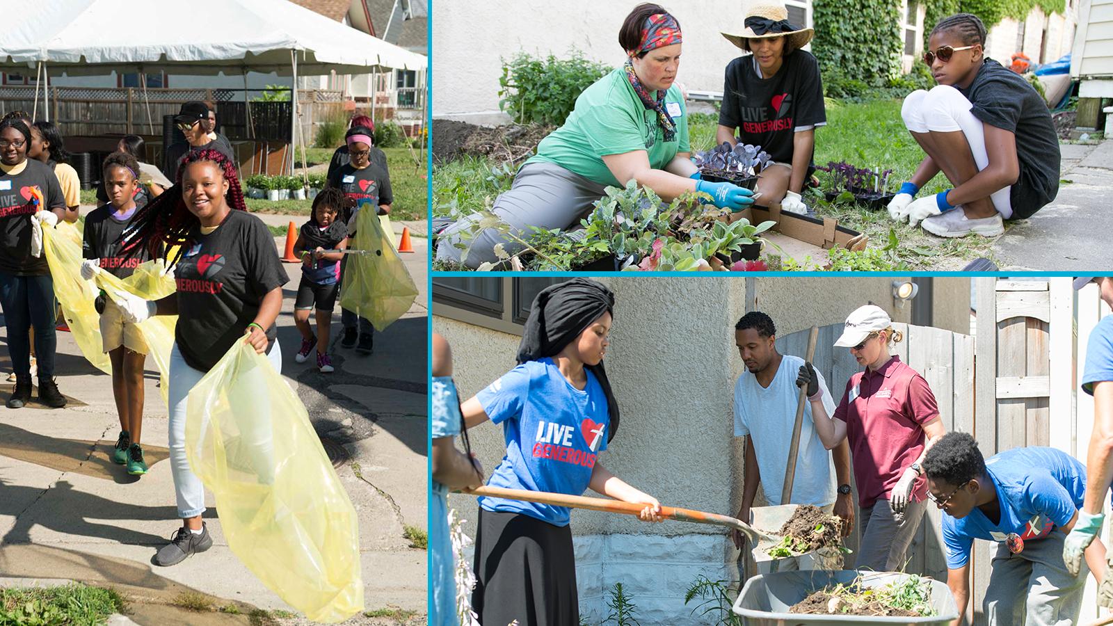 Neighborhood Revitalization event photo collage
