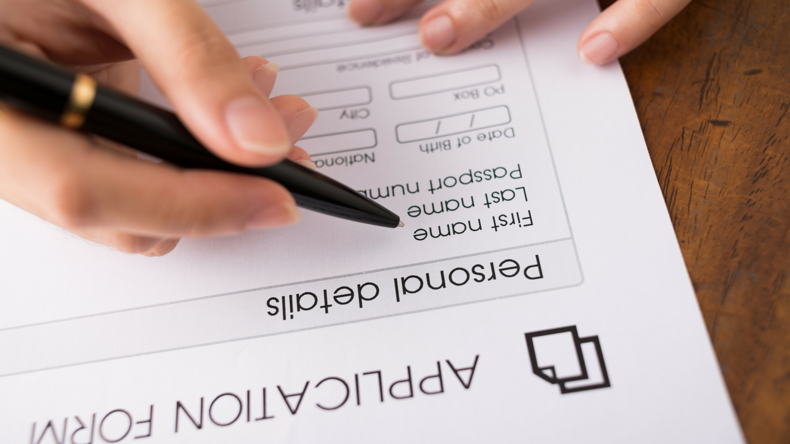 application paperwork