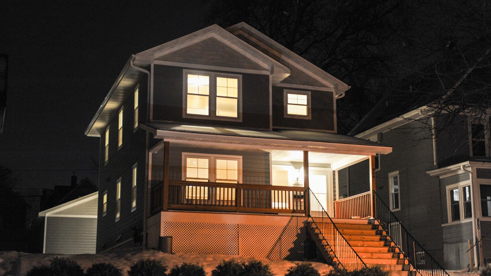 Habitat home at night